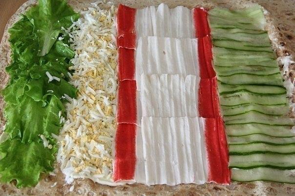 Лаваш с начинкой из крабовых рецепты простые