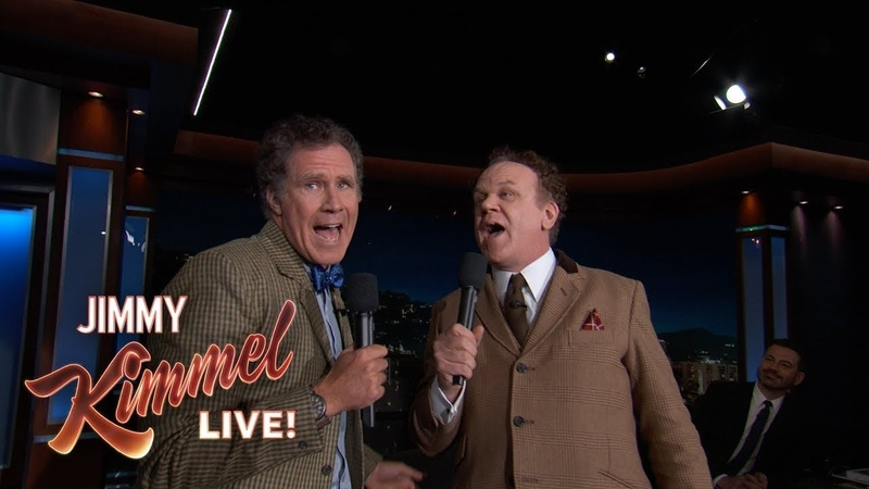 Will Ferrell John C. Reilly Sing Reunited to Each Other