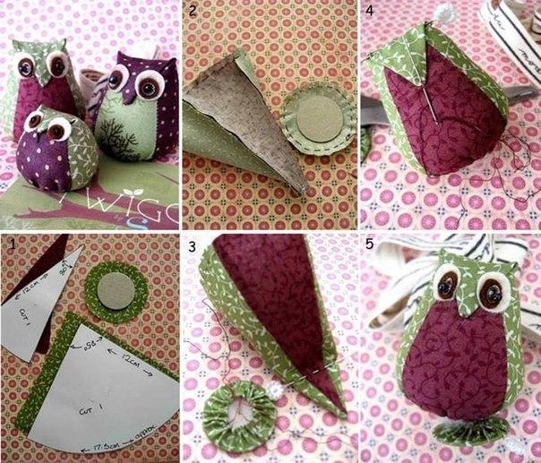 Как сделать своими руками сову из ткани своими руками 12