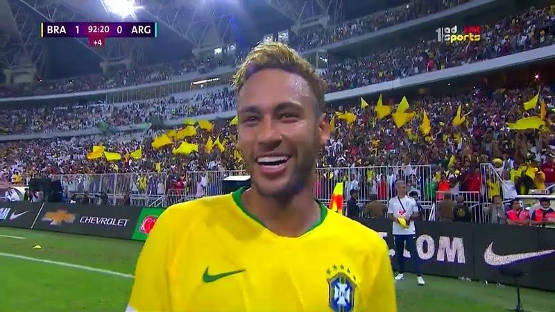 Brazil vs Argentina 1-0- golden goal -friendly (16-10-2018)
