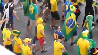 Ростов на Дону Чемпионат мира по футболу Бразилия Швейцария болельщики собираются на матч карнавал