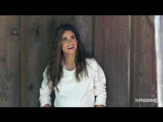 Фотосессия: закадровая съемка для сентябрьской обложки «Fit Pregnancy»;