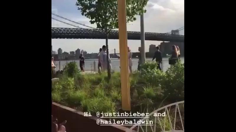 June 16: Fan taken video of Justin and Hailey in Williamsburg, Brooklyn.