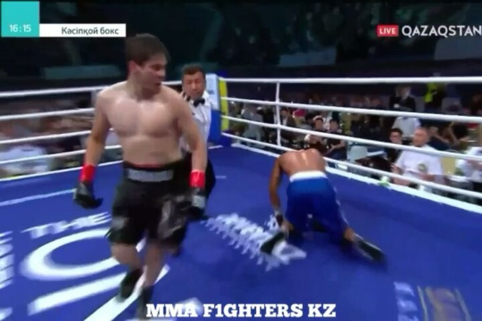 "Official | MMA Fighters KZ 🇰🇿 on Instagram: ""🔝Мощный апперкот.  Диас Тастемиров (2-0, Казахстан) 🆚 Эльвин Ахунзада (4-0, Азербайджан)  mmafighters..."