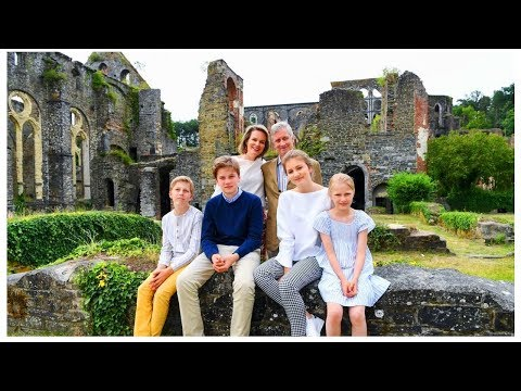 Beautiful BELGIAN ROYAL FAMILY during their Summer Photoshoot 2018