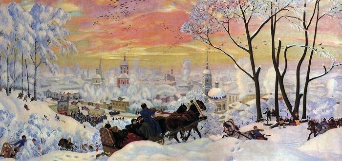"""Борис Кустодиев """"Масленица"""" 1916 г."""
