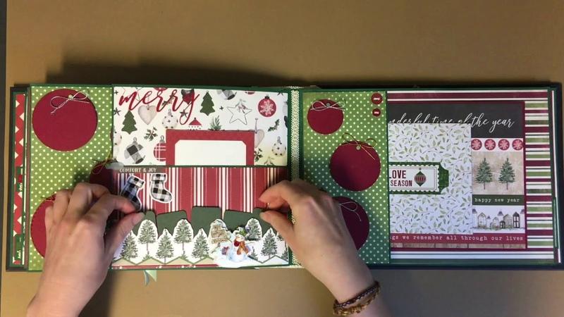 Simple and cosy Christmas scrapbook / Простой и уютный новогодний альбом