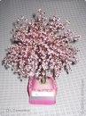 Бисер 3-х цветов ( в моём дереве : Светло розовый , тёмно розовый и зелёный)Розового бисера 45-50 грамм каждого...