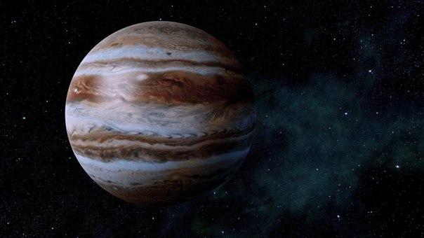 Юпитер вращается вокруг своей оси со скоростью 45 300 км/ч - быстрее всех планет...