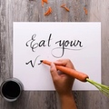 """♚ Pencils Artz ♚ on Instagram: """"♚Pencils Artz♚ ✶ Give your writing a hand with these creative calligraphy hacks! ❤️❤️ ✶ Credit goes to ☞ @blossom ..."""