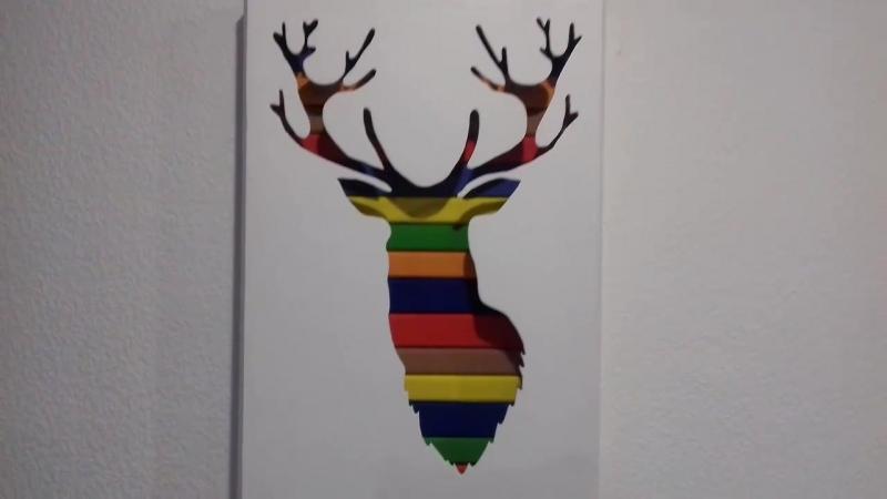 Deer Wall Pan Олень Настенное пано