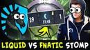 39-1 WTF total STOMP on TI8 — Liquid vs Fnatic