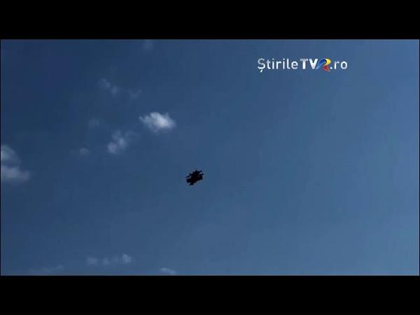 Știrile TVR: Momentul ciocnirii avioanelor la Frătăuții Vechi, Suceava