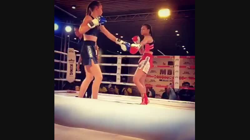 Taking a heavy beating in the ring