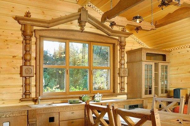 Деревянный декор домов фото