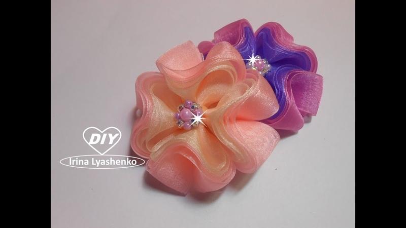 3D бантик из органзы МК/DIY 3D ribbon bow/PAP Laço de fita 3D185