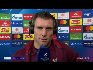 James Milner: Our aim is to win the Champions League (Liverpool v PSG)