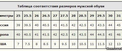 Размеры Женской Обуви В См
