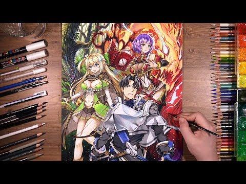 에픽 세븐 Epic Seven - colored pencil drawing   drawholic