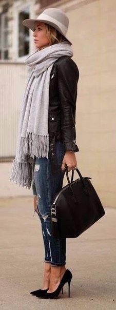 Стильные объемные шарфы