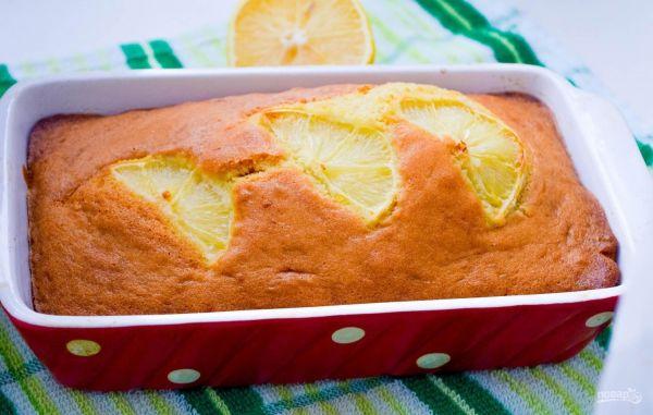 Лимонный кекс. Ингредиенты: Сливочное масло — 120 г Сахар —