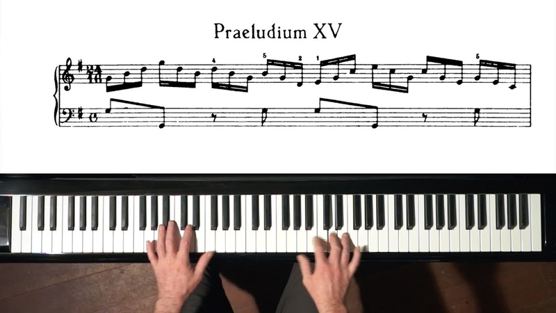 Bach Prelude and Fugue No.15 (take 1) Well Tempered Clavier, Book 1 with Harmonic Pedal