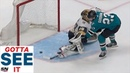 GOTTA SEE IT Barclay Goodrow Ends Instant Classic Between Sharks Golden Knights With OT Goal