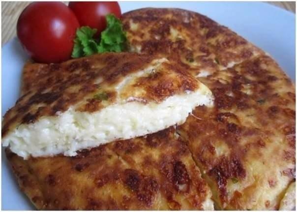 Ленивый хачапури Ингредиенты: 200 г тёртого сыра, любого 2