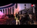 Сутички на Грушевського: вибухи, гумові кулі, палаючі автобуси...