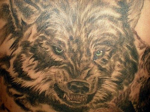 Фото наколки оскал волка