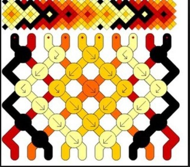 Схема фенечки гейзер.