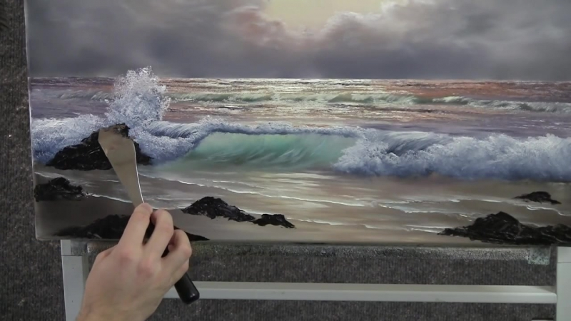Рисуем море. Pastel Morning Wave - Paint with Kevin Hill