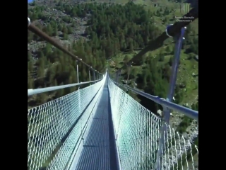 This is the LONGEST pedestrian suspension bridge in the world!