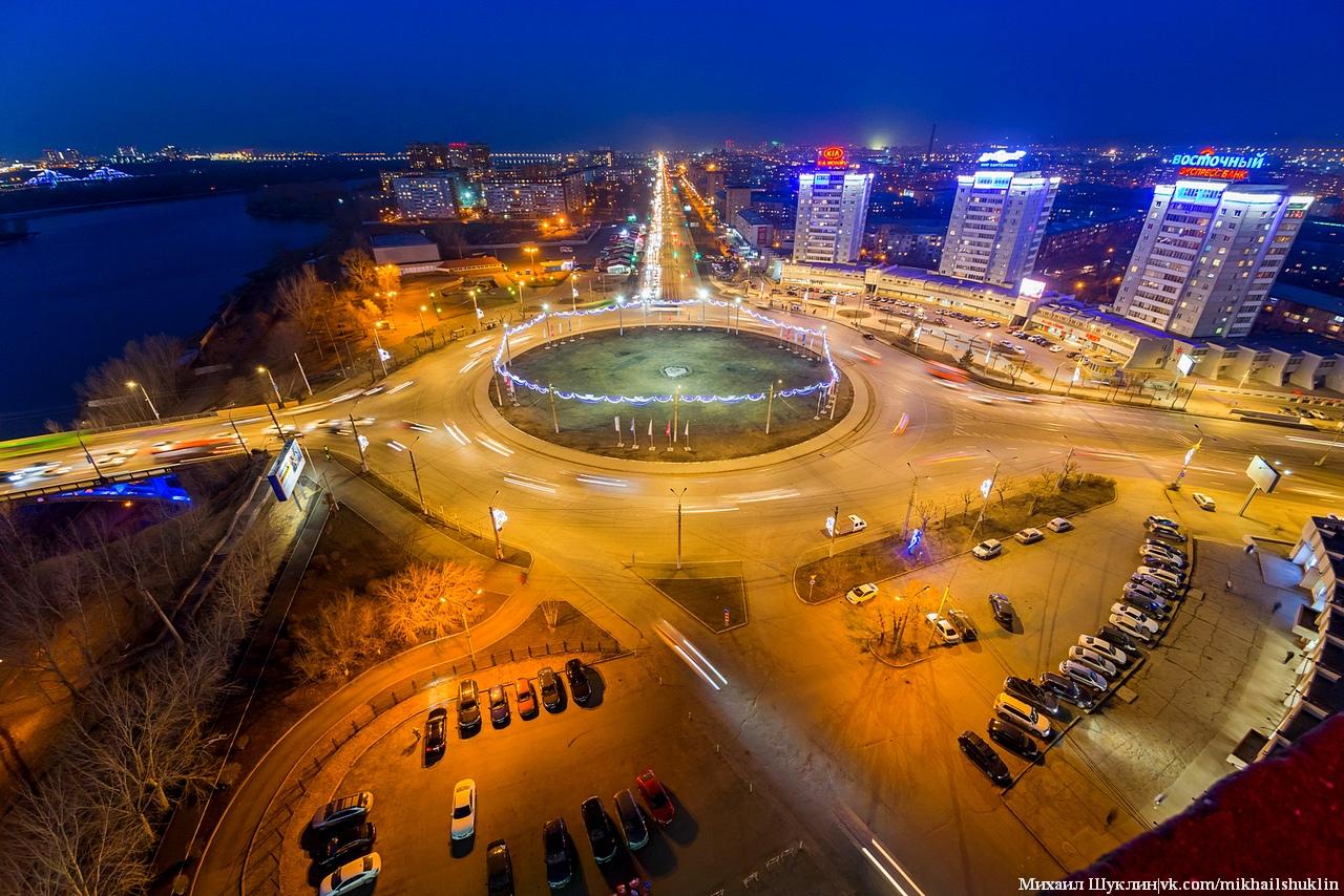 Свежие виды на Красноярск с высоты, т.е. с крыши здания расположенного по адресу Александра Матросова 2.