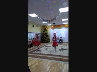 Новогодний танец лошадок и Герды