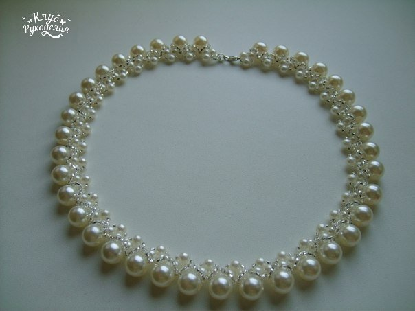 Очень красивое и нежное ожерелье (3 фото) - картинка
