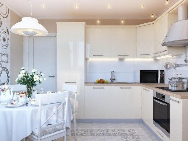 Белая кухня (1 фото) - картинка