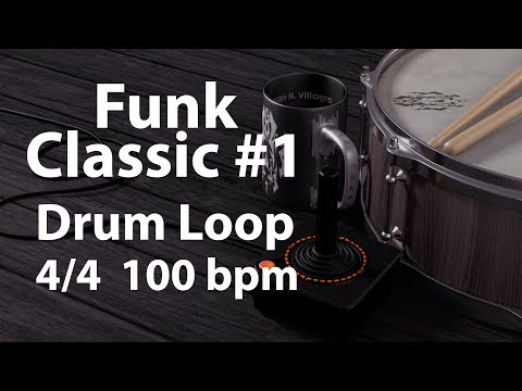 Funk Classic Loop 1 - 100 BPM 44 - Drum Beat - Drum Loop - Backing Track - 20 minutes