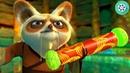 Мастер Шифу вручает По свиток Дракона. Кунг-фу Панда (2008) год.