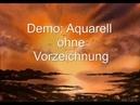 Aquarell Demo Impression am Meer