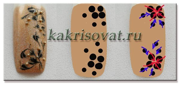 Рисунки на ногтях иголкой для начинающих в домашних условиях