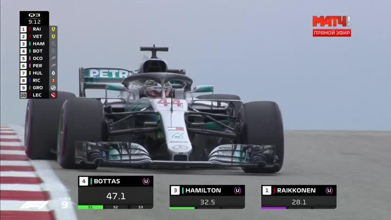 Формула 1. 2018. 18/21. Гран-при США. Квалификация [21.10] (2018)
