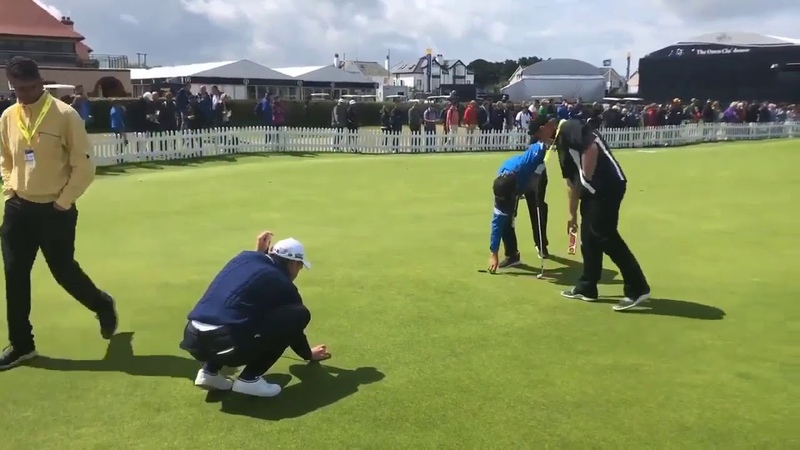 The Open Championship Watch a putting masterclass from one player Masters Champion