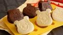 ダイソーのシリコン型で作るぷっくり♡プーさんチョコケーキ | Pooh chocolate cake