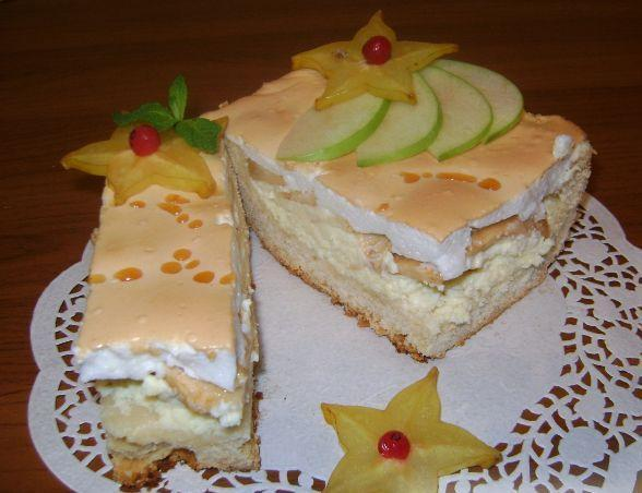 Королевский пирог (с яблоками и творогом).