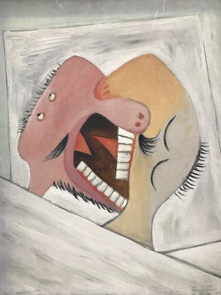 Картина «Поцелуй», 1931 год. художник Пaбло Пикассо