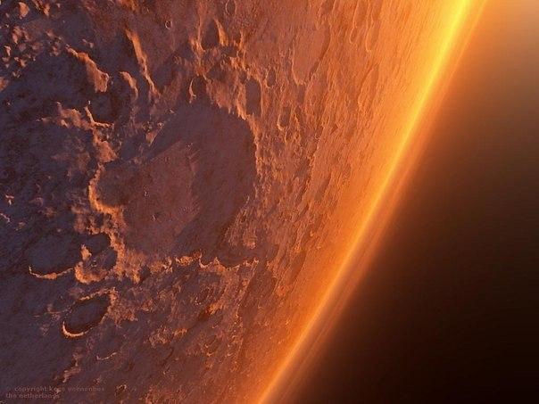 Удивительные виды древнего и современного Марса