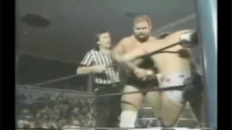NWA Arn Anderson vs Lee Ramsey Brutal Arm Attacks