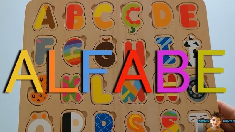 Renkli Oyuncak Harflerle, Hayvan, Eşya, Meyve ve Araç İsimleri - Türkçe Alfabe