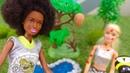 Barbie vai acampar. Vídeos de brinquedos para meninas.